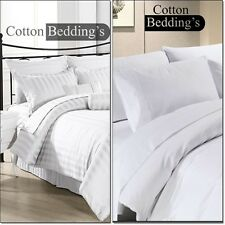 1200 1000 TC 100% Egyptian Cotton Hotel White in Solid & Striped Bedding Items