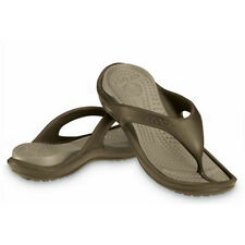 Mens Crocs Duet Athens Flip Sandal Chocolate Khaki 100% Authentic Brand New