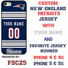 Custom NEW ENGLAND PATRIOTS Phone Case Cover w Your Name & Jersey Number IPhone