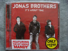 JONAS BROTHERS IT'S ABOUT TIME USA CD SEALED MEGA RARE  WITH PROMO STICKER