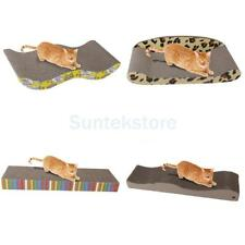 Cat kitten Scratching Corrugated Cardboard Scratcher Board Bed Post Catnip toy