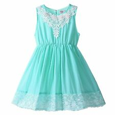 Toddler Girls Party Princess Dresses Causal Tulle Lace Summer Dress Kids Costume