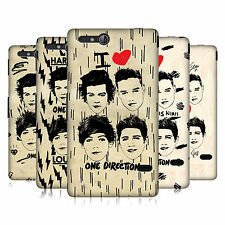 OFFICIAL ONE DIRECTION 1D DOODLE GRUNGE HARD BACK CASE FOR SONY XPERIA GO ST27i