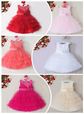 Kids Girl Baby Flower Dress Lace Princess Birthday Wedding Party Formal Pageant