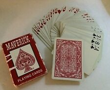 Maverick Red Playing Cards 2001 by Hoyle - Great Condition.  Made in USA