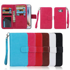 Luxury 9 Card slot Leather Wallet Case Flip Cover For Samsung Galaxy Note 5 S6