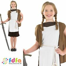 MEDIEVAL WARRIOR LEGEND VIKING GIRL BOOK WEEK 4-12 kid girls fancy dress costume