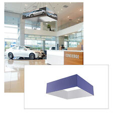 16ft Square Tradeshow Fabric Tension Hanging Sign Stretch Fabric Graphics+Stand