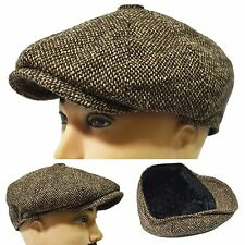 Thick Tweed 8Panel Newsboy Applejack Paperboy Cabbie Driving Golf Casual Hat Cap