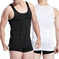Fashion Mens Body Shaper Slimming Fitted Shapewear Waist Belly Corset Vest Tops