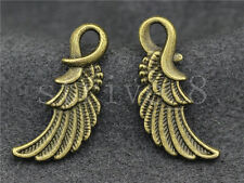 10/40/200pcs Antique Bronze Bird wings Jewelry Finding Charms Pendant 25x11mm