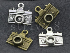 10/40/200pcs Antique Silver/Bronze Beautiful Camera Charms Pendant 15x13mm