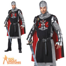 Adult Medieval Knight Costume Deluxe Mens Crusader Fancy Dress Outfit New