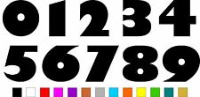 1x Set of Numbers 0 to 9 (3 inches tall) Vinyl Bumper Stickers Decals #a992