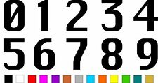 1x Set of Numbers 0 to 9 (4 inches tall) Vinyl Bumper Stickers Decals #a988