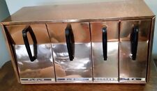 Vintage Lincoln BeautyWare Wall Mount Metal Canister Set Copper Atomic MCM