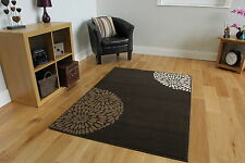 New Chocolate Brown Beautiful Modern Rug Small Large Carpet Rug Living Room Rugs