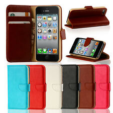 GENUINE LEATHER VINTAGE FLIP WALLET CASE COVER FOR iPHONE 5S / 5/ 5C /
