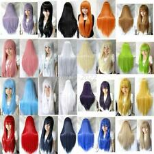 70 cm/28 inch Womens Ladies Long Straight Cosplay Wig Full Wigs Multi-Colors B10
