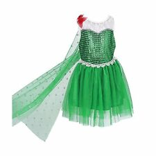 Girls Sequined Elsa Frozen Dress with Cape Kids Halloween Party Fancy Costume