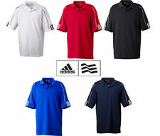 ADIDAS GOLF NEW a76 Climalite Mens Size S-3XL Three Stripes Polo Sport Shirt