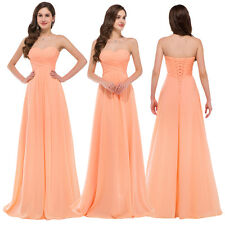 FAST US STOCK! Sexy Long Evening Formal Party Gown Prom Wedding Bridesmaid Dress