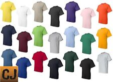 Hanes Men's Blank Short Sleeve Cotton Beefy T-Shirt with Pocket 5190 S-3XL