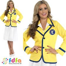 HOLIDAY REP HI DE HI YELLOW COAT - UK 8-22 - womens ladies fancy dress costume