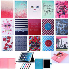 Newest Dew Printing Flip Stand TPU+PU Leather Cover Tablet Case For Apple iPad