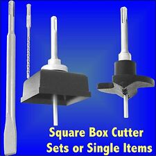 SDS Masonry Square Box TCT Hole Cutter Sets Electrical Boxes Telephone Socket