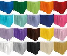 "5 Polyester Table Skirts 14' x 29"" Made in USA Banquet Buffet Skirting 3 Colors"