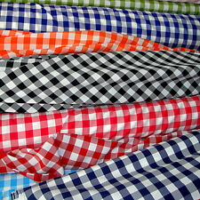"""30 ft Checkered Fabric 60"""" Wide Gingham Buffalo Check Tablecloth Fabric Decor"""