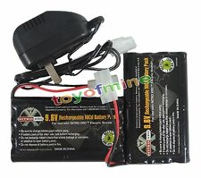 2 Ni-cd 9.6v 2400mAh Rechargeable Battery for RC Toy + Charger Tamiya Connector