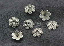 30/100/500pcs Tibetan Silver Flower Bead Caps Charms DIY Jewelry Finding 9mm
