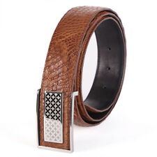 GAVADI Men's Casual Waistband Luxury Crocodile Leather Automatic Buckle Belts