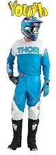 THOR Phase Kit YOUTH HYPERION BLUE WHITE 2016 MOTOCROSS ENDURO JERSEY & PANT