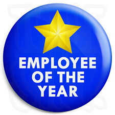 Employee of the Year - 25mm Work Award Button Badge with Fridge Magnet Option