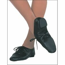 NEW Capezio Unisex CG02 Black Leather split sole Jazz Dance shoe