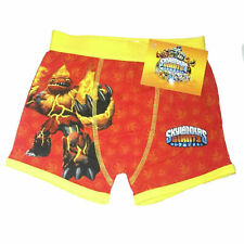 FREE P&P BNWT Boys Skylanders Boxer Shorts  Ages 4-12 Years Red Hot Head pants