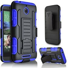 For HTC Desire 510 Armor Hybrid Protective Rugged Hard Holster Clip Case Cover