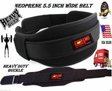 BodyBuilding Weight Lifting Fitness Gym Neoprene Wide Double Back Support Belt