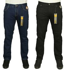 MENS NEW KAM SKINNY FIT STRETCH JEANS IN BLACK & BLUE USED COLOURS ALL SIZES