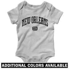 New Orleans 504 One Piece - Saints NOLA LA Baby Infant Creeper Romper  NB to 24M