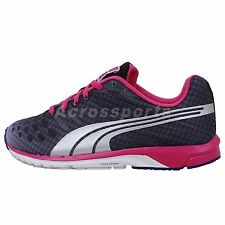 Puma Faas 300 V3 Wns Black Purple Silver Womens Cushion Running Shoes 18706701