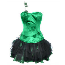 Sexy Poison Ivy Villain Adult costume! Steel Corset complete Cosplay Sizes S-2XL