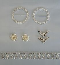 DIY Browband Kit - Silver 5 Row or Diamond Chain, Centres, Flag Tips & Rings