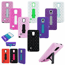 BUY 1 GET 1 FREE! Diamond Bling Case Kickstand Cover for Samsung Galaxy Note 4
