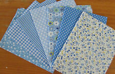 """28x Quilting Fabrics Squares For DIY Handmade Projects Patchwork Remnant 5""""x5"""""""