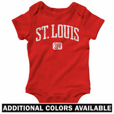St. Louis 314 One Piece - Cardinals Rams Baby Infant Creeper Romper - NB to 24M