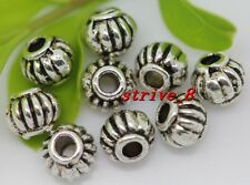 50/200/1000pcs Tibetan Silver Circular Beads Jewelry Charms Spacer Beads 5x4mm